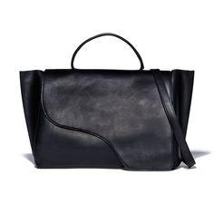 ATP Atelier   Volterra Black Leather Handbag   Goop