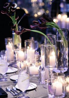 Photographer: Akil Bennett Photography; Wedding reception centerpiece idea