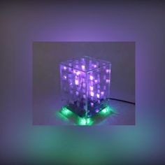 4x4x4 Dual Color LED Cube 3D Light Square Electronic DIY Kit With Remote Control