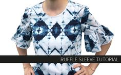 A ruffle sleeve tutorial for any shirt from guest Audrey of Skirt Fixation