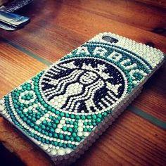 Starbucks sparkly iPhone case