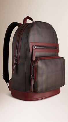 Shop men's bags from Burberry, a runway-inspired collection featuring briefcases and backpacks, as well as crossbody and tote bags for men. Cool Backpacks For Men, Trendy Backpacks, Leather Diaper Bags, Leather Backpack, Fashion Bags, Fashion Backpack, Leather Bag Tutorial, Back Bag, Diaper Bag Backpack