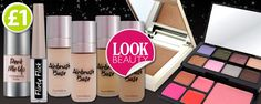 Look Beauty cosmetic range is on sale now! There's everything from luxurious primers, foundations & concealers to statement eyeliners, bronzers & make-up palettes! These top quality products are only £1, so you had better be quick! www.poundshop.com/health-beauty/cosmetics