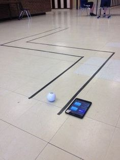 Blowing a pingpong ball. could twach newtons firat 2 laws Teaching Geometry with Sphero. Teaching Geometry, Geometry Activities, Stem Activities, Stem Robotics, Math Enrichment, Coding For Kids, Stem Science, Stem Projects, Educational Technology