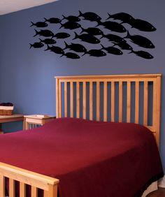 school of fish wall decals