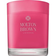 Molton Brown Pink Pepperpod Single-Wick Candle featuring polyvore, home, home decor, candles & candleholders, colorless, scented candles, molton brown, molton brown candle, pink candles and wick candles