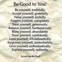 1st aid for the soul