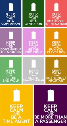Doctor Who Keep Calm and Be a Companion 8x10 by TardisBlueWings, $12.00