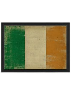 Irish Flag by Artwork Enclosed on Gilt Home