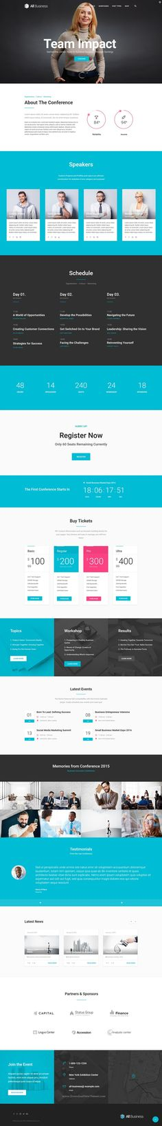 All Business is wonderful material design WordPress #Theme for Corporate and Company #websites. #conference Download Now!