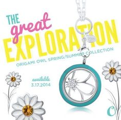 The 2014 Spring/Summer Collection from Origami Owl will be available March 17th! Over 150 new items including earrings, new enamel twist lockets, tear drop dangle, adorable new charms and soooooo much more! Follow me on Instagram @YourLifeYourLocket or like me on FB at www.facebook.com/YourLifeYourLocket for more details.
