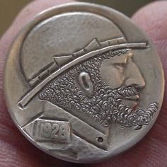 OWEN COVERT HOBO NICKEL: CLASSIC STYLE Hobo Nickel, Buffalo, Classic Style, Carving, Personalized Items, Wood Carvings, Sculptures, Printmaking, Water Buffalo