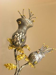 Thistle Brooch by Nancy L T Hamilton, via Flickr