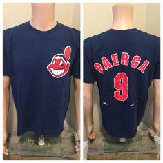 306d9832 Carlos Baerga #9 // Vintage Cleveland Indians shirt // Indians jersey shirt  // 1994 Starter // Size Large L