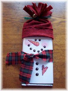 printable snowman candybar cover