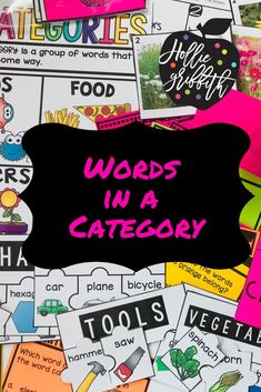 Teach students to sort words into categories with this engaging hands-on resource. This bundle includes lessons, anchor charts, photograph sorts, a FoldOverbook, category puzzles, task cards, cut and paste printable, and a quick assessment. #HollieGriffithTeaching #KidsActivities #HandsOnReading