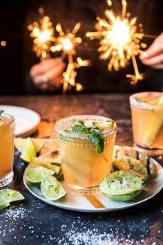 Pineapple Margarita Sparklers | halfbakedharvest.com Half Baked Harvest #newyear #tequila #champagne #drink