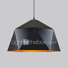 Pendant Light ,  Rustic/Lodge Vintage Retro Painting Feature for Mini Style Metal Living Room Dining Room Kitchen Game Room Hallway - GBP £73.41 ! HOT Product! A hot product at an incredible low price is now on sale! Come check it out along with other items like this. Get great discounts, earn Rewards and much more each time you shop with us!