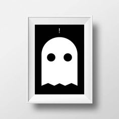 A printable minimalist ghost to minimally scare your friends. Comes in two sizes which you will receive digitally all at once with your purchase: 1 - High Resolution 24x36 poster sized (dpi = dots or pixels per inch. 300dpi is professional quality) 2 - High-Resolution 8x10 300dpi This print will look sort of but not really scary hanging on your wall, or perhaps on a desk or bookshelf. ** Please note that this is a digital copy and no physical product will be shipped ** Seconds after...