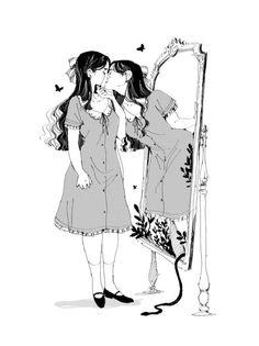 Loputyn - Zelda and Ganon sketch Dark Art Illustrations, Illustration Art, Aesthetic Art, Aesthetic Anime, Pretty Art, Cute Art, Art Sketches, Art Drawings, Character Art