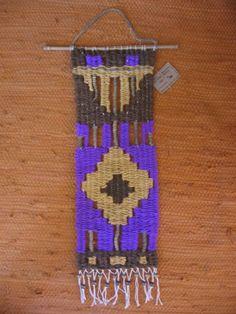 Tapestry Loom, Pixel Art, Macrame, Fiber, Weaving, Drop Earrings, Christmas Ornaments, Holiday Decor, Crochet