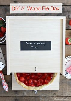 DIY  Wood Pie Box by The Casual Craftlete  ~ shared at DIY Sunday Showcase Link Party on VMG206 (Saturdays at 5pm CST). #diyshowcase