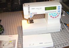 My sewing machine: Pfaff Creative 7550  It's a little workhorse and I love it!