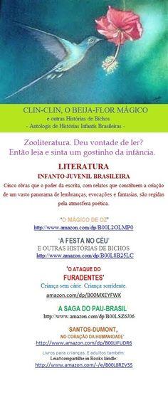 """Lançamento e-Book Kindle para Você:     http://www.amazon.com/dp/B00L8B25LC  Leia#compartilhe in Books kindle:   A FESTA NO CÉU E OUTRAS HISTÓRIAS DE BICHOS  Acesse o Books by Welington Almeida Pinto: www.amazon.com/-/e/B00L8RZV5S  -  E baixe também os livros: 'O Mágico de Oz"""", 'A Festa no Céu e outras Histórias de Bichos', """"O Ataque do Furadentes"""", """"A Saga do Pau-Brasil"""" e """"Santos-Dumont. No Coração da Humanidade"""""""