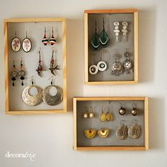 30 Cool Dollar Store Organizing Ideas Making The Most of your Space with Utmost Style! Jewelry Organizer Drawer, Jewellery Storage, Jewelry Organization, Earring Storage, Jewelry Holder, Diy Rangement, Craft Stalls, Ideas Para Organizar, Inspired Homes
