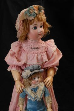 Very rare antique French  Steiner G (large Bebe) and Steiner A. (Small Bebe)