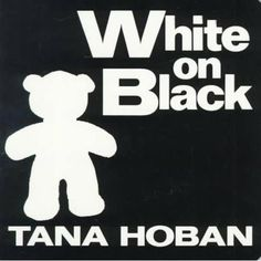 By Tana Hoban This wordless book of white shapes on a black background is perfect for young babies, who love looking at bold, contrasting colors while their eyes are developing. White Books, Black Books, Baby's First Books, Good Books, Big Books, Toddler Books, Childrens Books, Best Baby Book, 4 Image