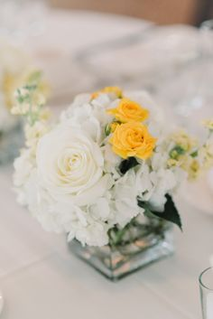 Poughkeepsie Wedding: Graceful Yellow Decor at The Grandview - MODwedding