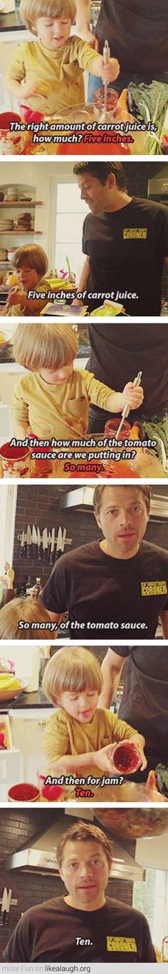 Meanwhile, Misha I don't even know what this is from but it's hilarious