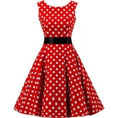 red rockabilly dress - Google Search