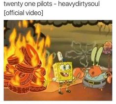 WHY ARE THERE SO MA NY SPONGEBOB SQUA RE PANTS / twenty one pilots POSTS WHYYYY??