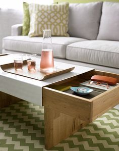 cool, practical coffee table