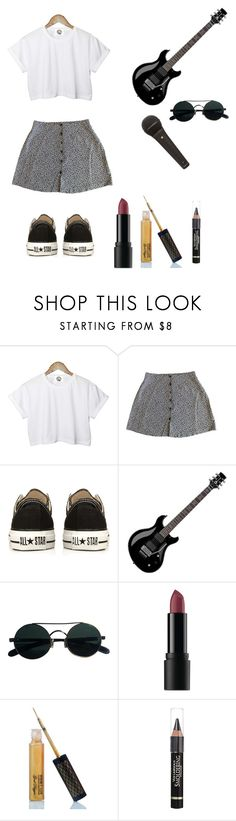 """Band Gig"" by just-call-me-r ❤ liked on Polyvore featuring CC, Converse, Floyd, Bare Escentuals, Winky Lux and Anrealage"