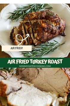 Air Fried Turkey with Rosemary and Garlic is a great choice for dinner and ready in less than an hour made right in the Air Fryer!