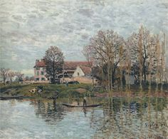 Banks of the Seine at Port Marly via Alfred Sisley Size: 54.6x65 cm Medium: oil on canvas