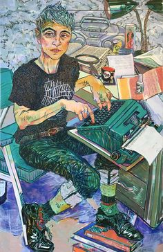 Expressive Color-Filled Portraits of Friends and Family by Hope Gangloff (Colossal) Figure Painting, Figure Drawing, Painting & Drawing, Life Drawing, Illustrations, Illustration Art, Hope Gangloff, Colossal Art, Wow Art
