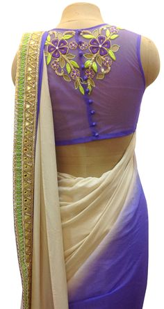 interesting sari or saree blouse back design
