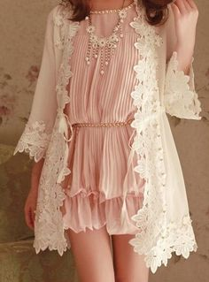 Lace and ruffles