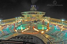 Freedom of the Seas. You'll find the main pool, sports pool, and 3 whirlpools on deck 11.