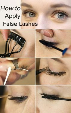 False Lashes Like a Pro (or a Kardashian!) Apply False Lashes Like a Pro (or a Kardashian!)Apply False Lashes Like a Pro (or a Kardashian! Applying False Lashes, Applying Eye Makeup, Ardell Lashes How To Apply, Mascara, Eyelashes Tutorial, Bigger Eyes, Fake Lashes, False Eyelashes Tips, Beauty Makeup