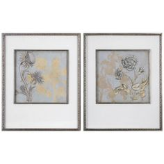 Uttermost Shadow Florals Artwork Set of 2