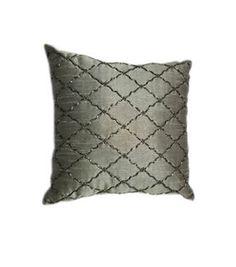 Hudson 43™ Beaded Quatrefoil Pillow   Home Decor