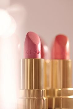Chanel Beautiful Lip Color loving the color in the back right pink coral lovee