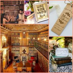 The 'Reading Room' of the Château de Chantilly is the inspiration for this mood board.  The venue makes for a great engagement / save the date photo shoot.  Think 'book marks' for the wedding invite / save the date.  We love the idea of using books as centerpieces topped with vintage tea cups & a string of pearls for some old world charm.  Use your fave book for Table Names or have quotes / poems by authors close to your heart.   #IDreamofChantilly #ExperienceFrance