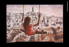 Anna Maria Speranza, «Ho visto Nina volare», «Buon Compleanno Faber 2014», acrilico su tela Painting, Tela, Painting Art, Paintings, Painted Canvas, Drawings