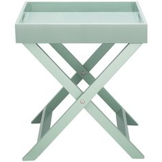 OKEN Sage green folding side table ($46) ❤ liked on Polyvore featuring home, furniture, tables, accent tables, lacquer table, folding furniture, folding end table, lacquer furniture and folding table